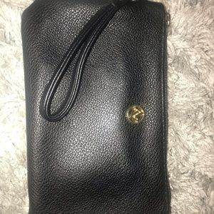 Black Wristlet with Attached Portable Charger